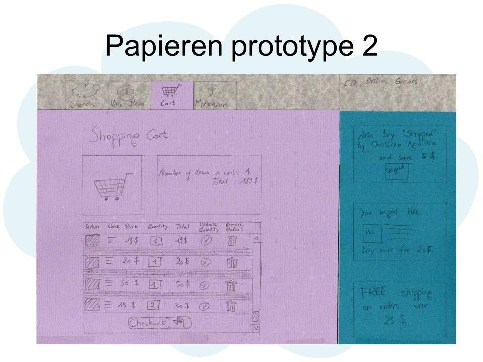 Papieren prototype 2