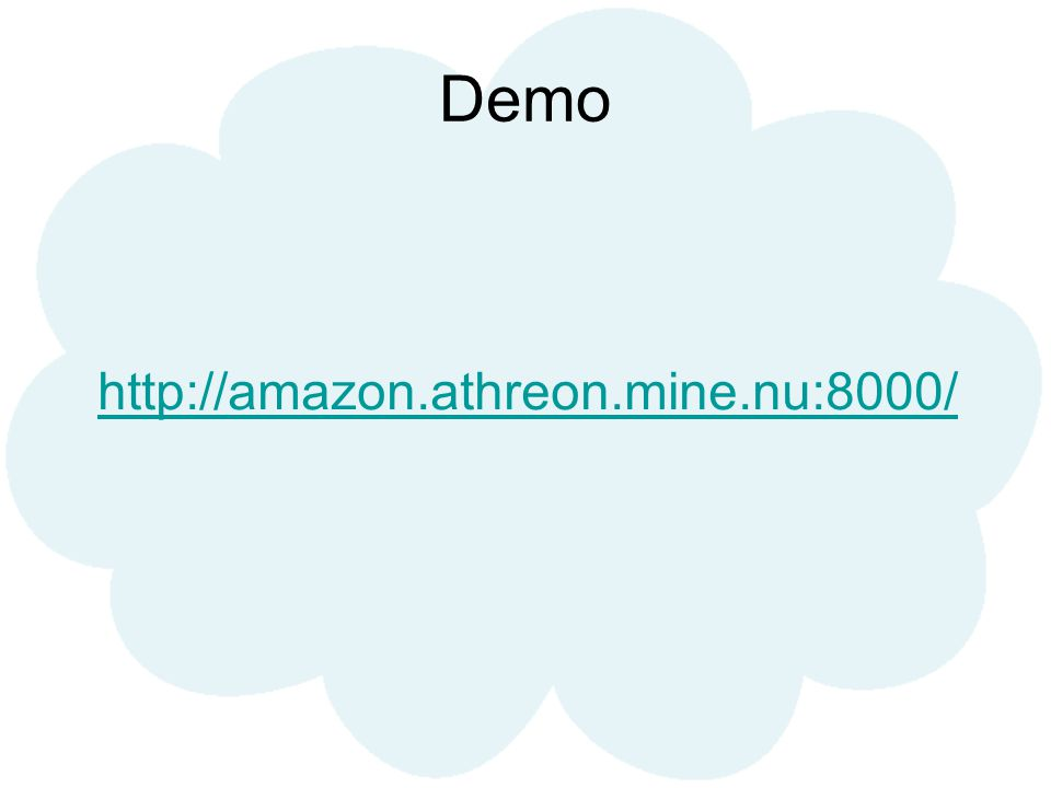 Demo http://amazon.athreon.mine.nu:8000/