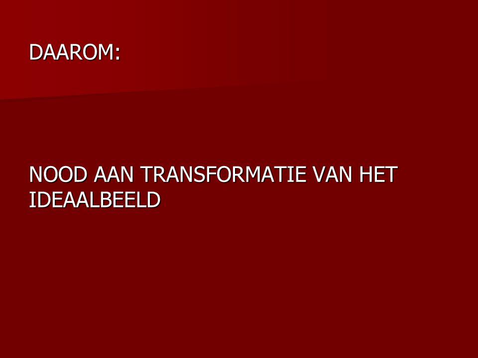 DAAROM: NOOD AAN TRANSFORMATIE VAN HET IDEAALBEELD
