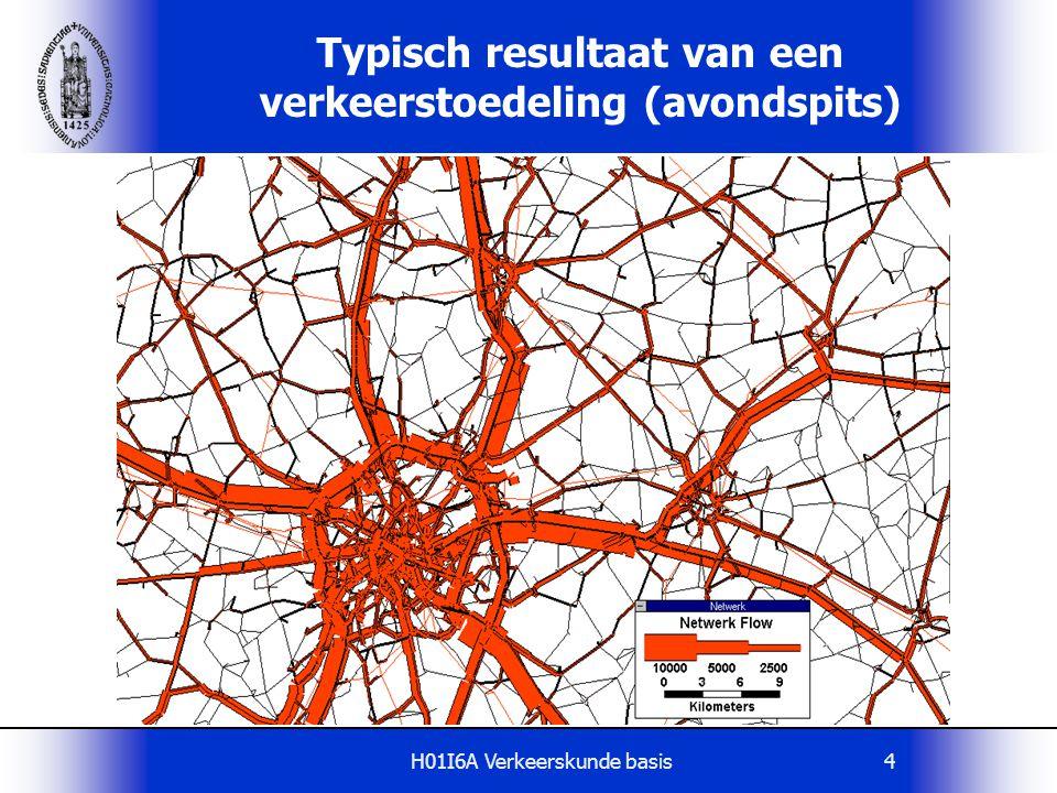 H01I6A Verkeerskunde basis5 Typisch resultaat van een verkeerstoedeling