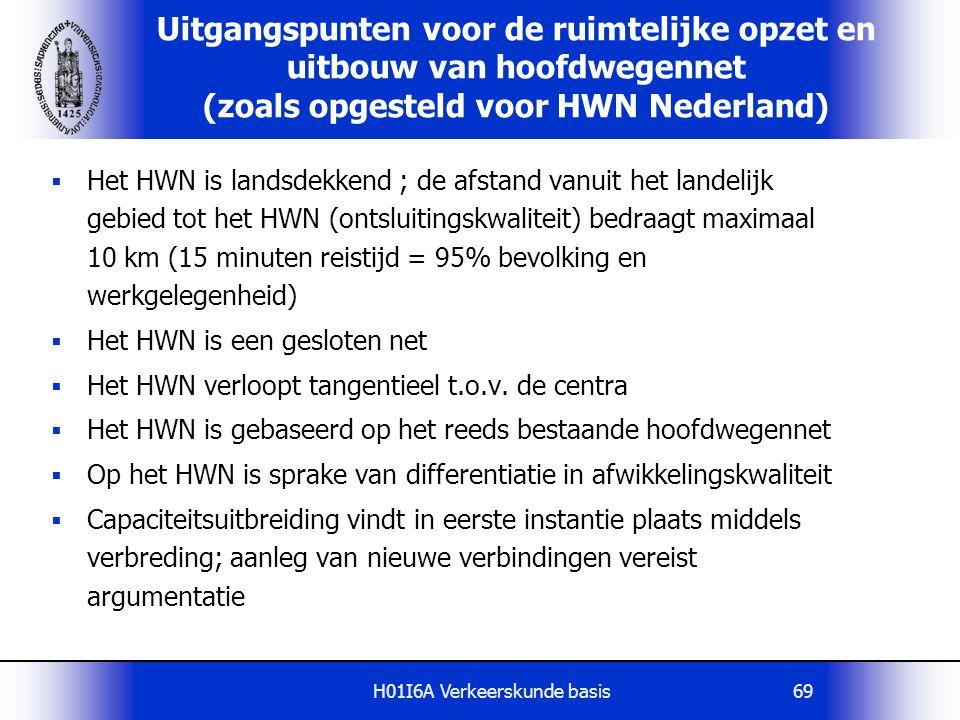 H01I6A Verkeerskunde basis69  Het HWN is landsdekkend ; de afstand vanuit het landelijk gebied tot het HWN (ontsluitingskwaliteit) bedraagt maximaal