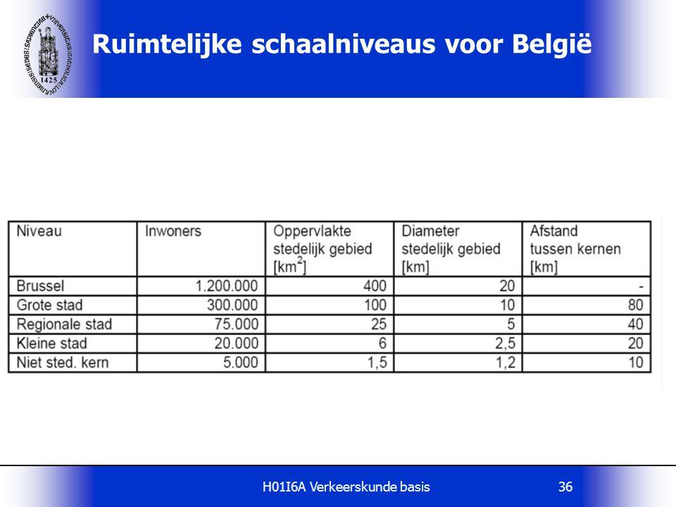 H01I6A Verkeerskunde basis36 Ruimtelijke schaalniveaus voor België