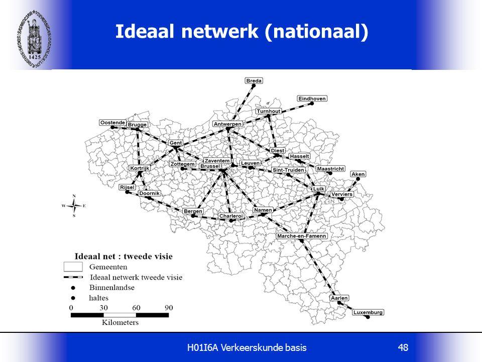 H01I6A Verkeerskunde basis48 Ideaal netwerk (nationaal)