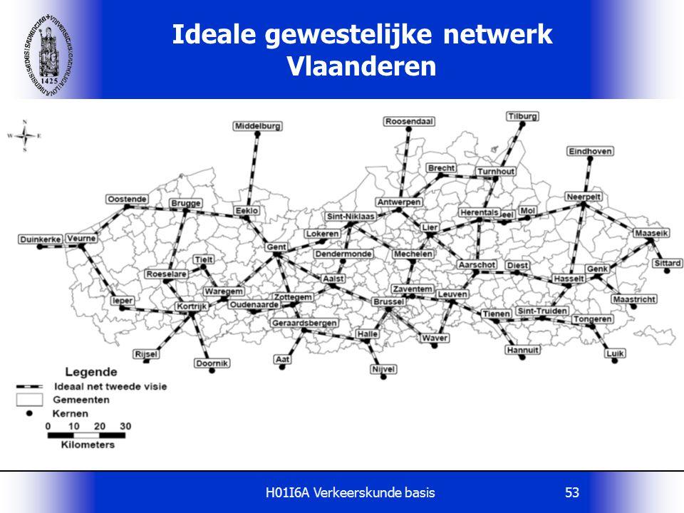 H01I6A Verkeerskunde basis53 Ideale gewestelijke netwerk Vlaanderen