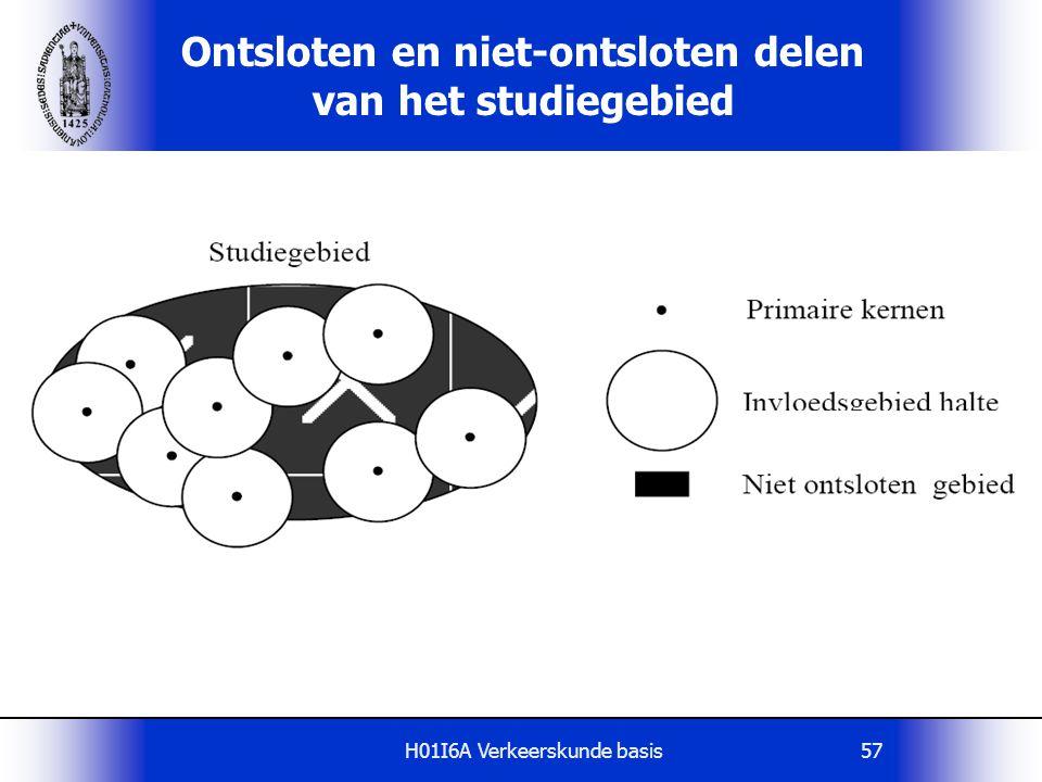 H01I6A Verkeerskunde basis57 Ontsloten en niet-ontsloten delen van het studiegebied