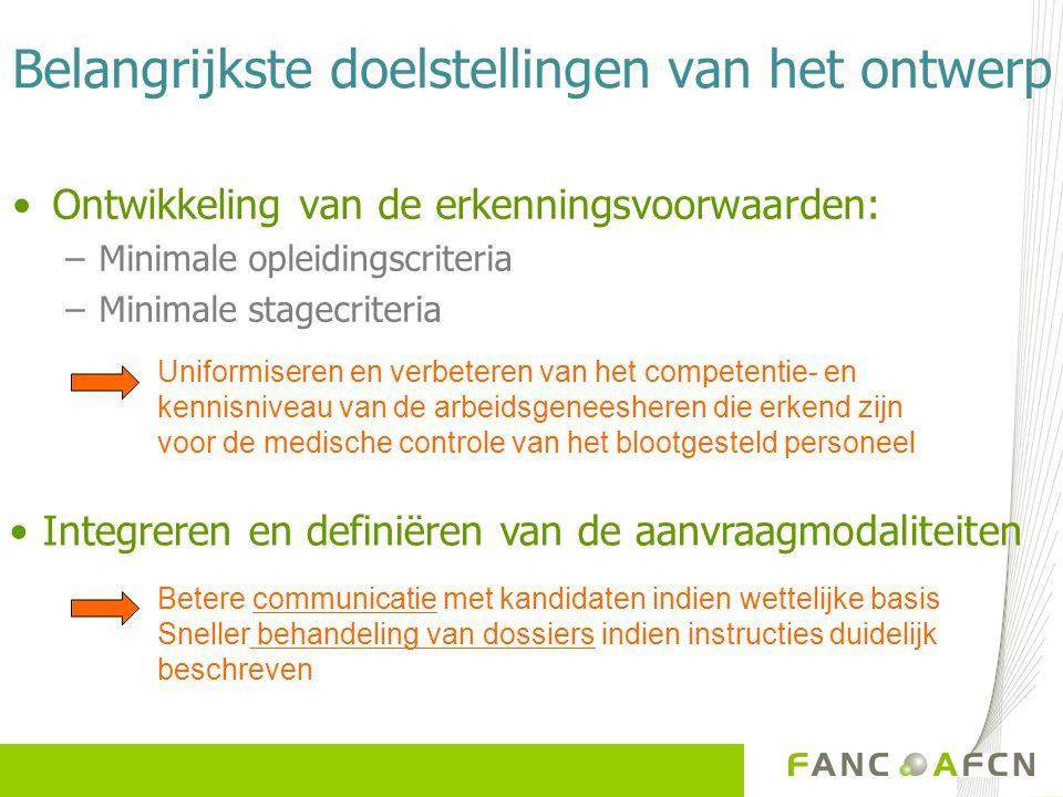 Projectplanning  01/04/2009 : formele raadpleging van de betrokken instanties  01/07/2009: aanpassing tekst  01/10/2009: aanvraag tot publicatie Belgisch Staatsblad