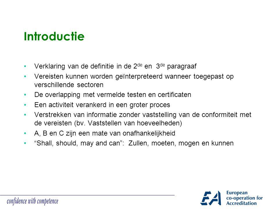 Annex A (normatieve) vereisten onafhankelijkheid Vereisten voor keuringsinstellingen (Type A) Vereisten voor keuringsinstellingen (Type B) Vereisten voor keuringsinstellingen (Type C)