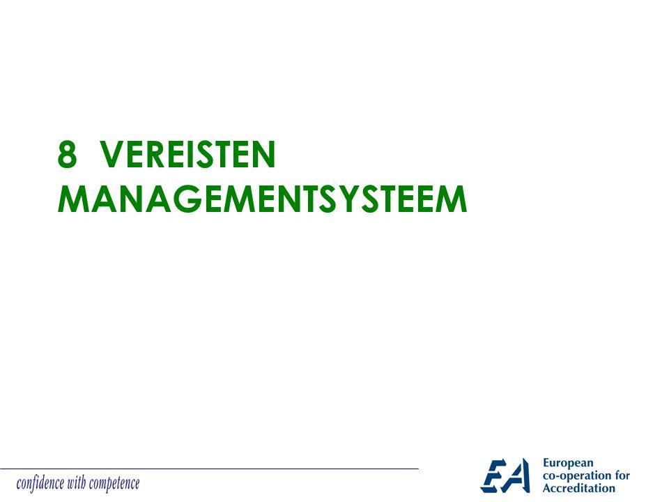 8 VEREISTEN MANAGEMENTSYSTEEM