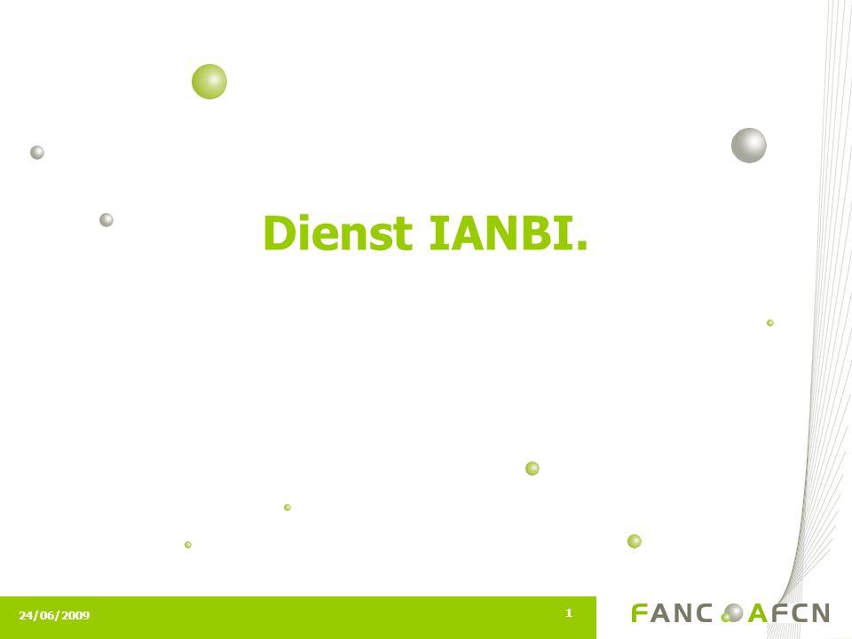 24/06/2009 1 Dienst IANBI.