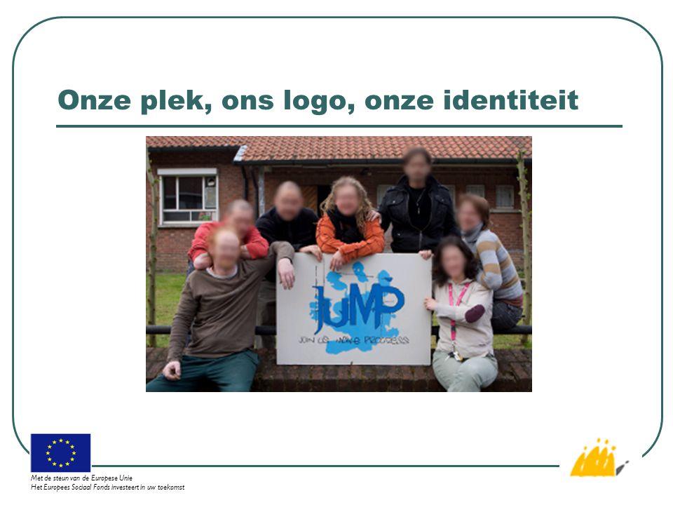Onze plek, ons logo, onze identiteit Met de steun van de Europese Unie Het Europees Sociaal Fonds investeert in uw toekomst