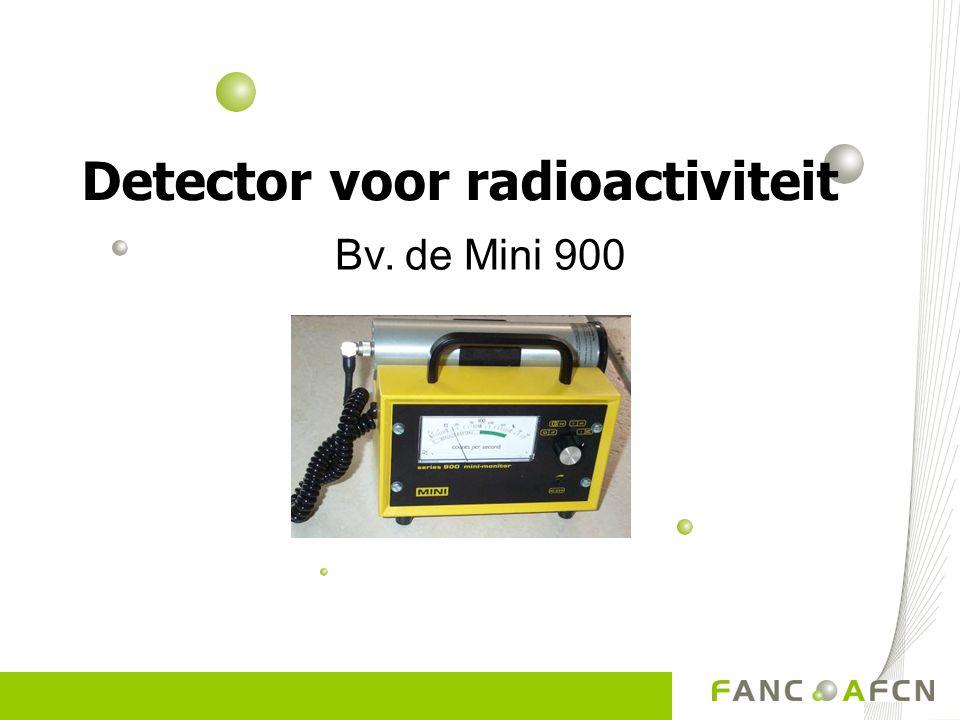 Bv. de Mini 900 Detector voor radioactiviteit
