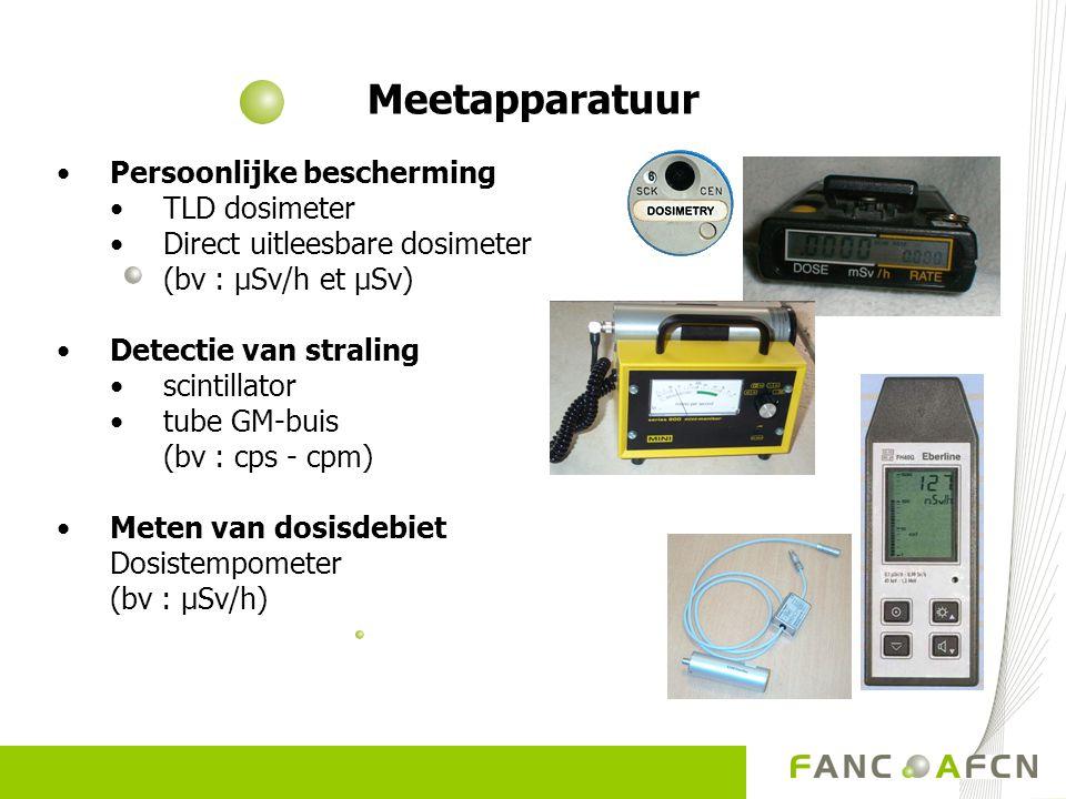 Meetapparatuur Persoonlijke bescherming TLD dosimeter Direct uitleesbare dosimeter (bv : µSv/h et µSv) Detectie van straling scintillator tube GM-buis
