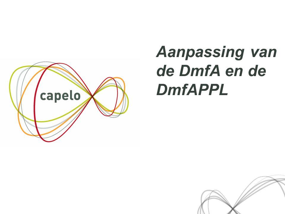 5 Aanpassing van de DmfA en de DmfAPPL