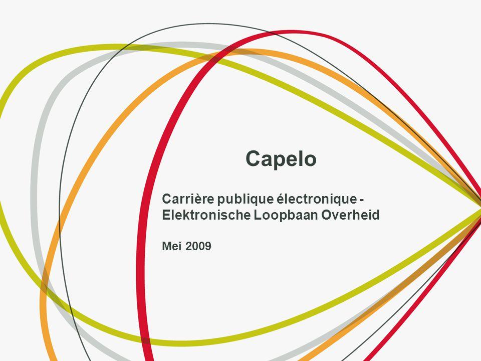 Capelo Carrière publique électronique - Elektronische Loopbaan Overheid Mei 2009