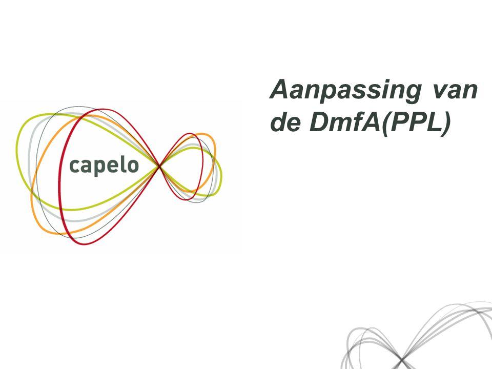10 Aanpassing van de DmfA(PPL)