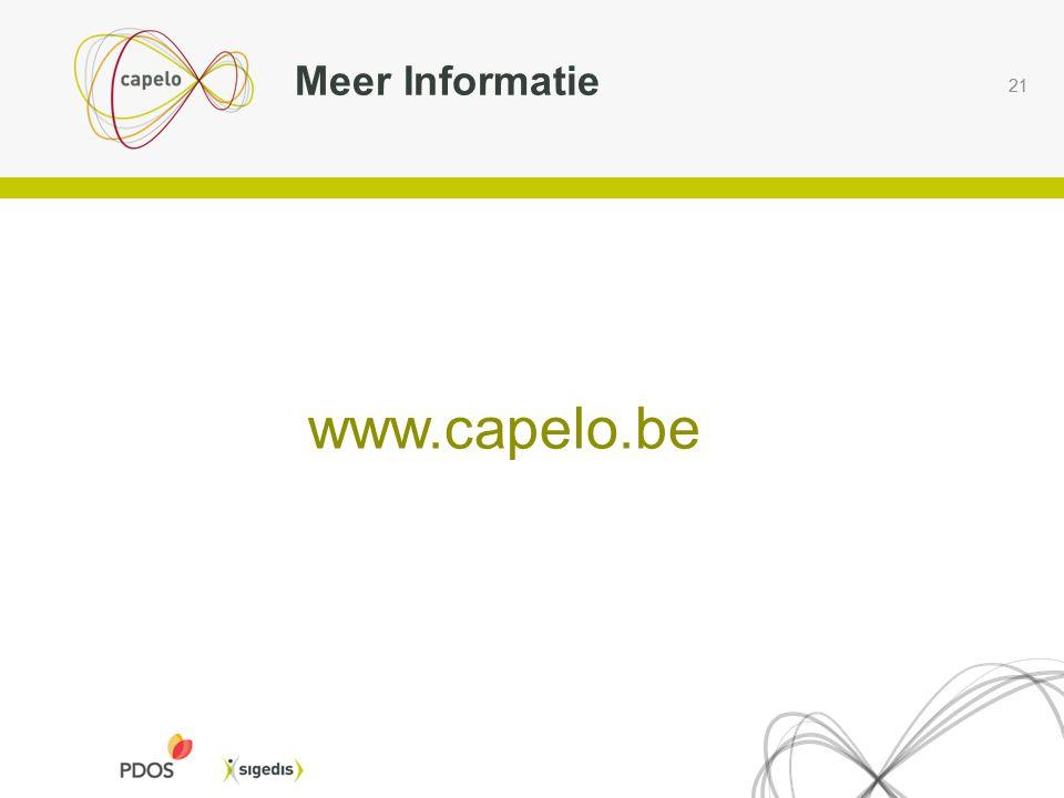 21 Meer Informatie www.capelo.be