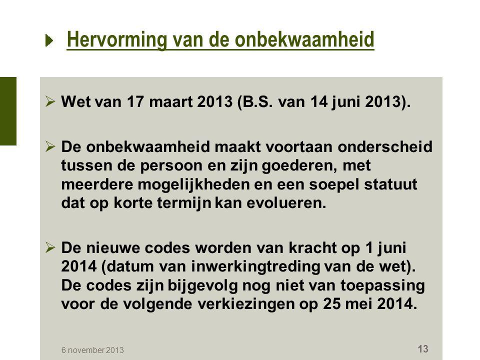  Wet van 17 maart 2013 (B.S. van 14 juni 2013).