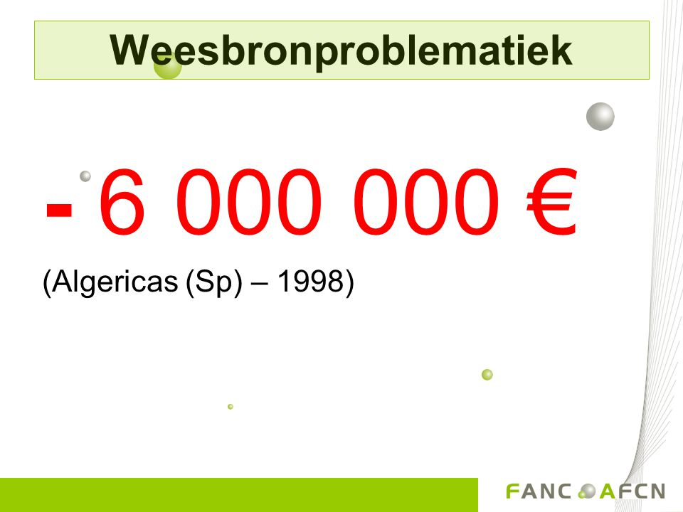 - 6 000 000 € (Algericas (Sp) – 1998) Weesbronproblematiek