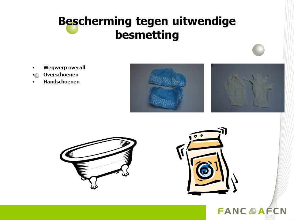 Bescherming tegen uitwendige besmetting Wegwerp overall Overschoenen Handschoenen