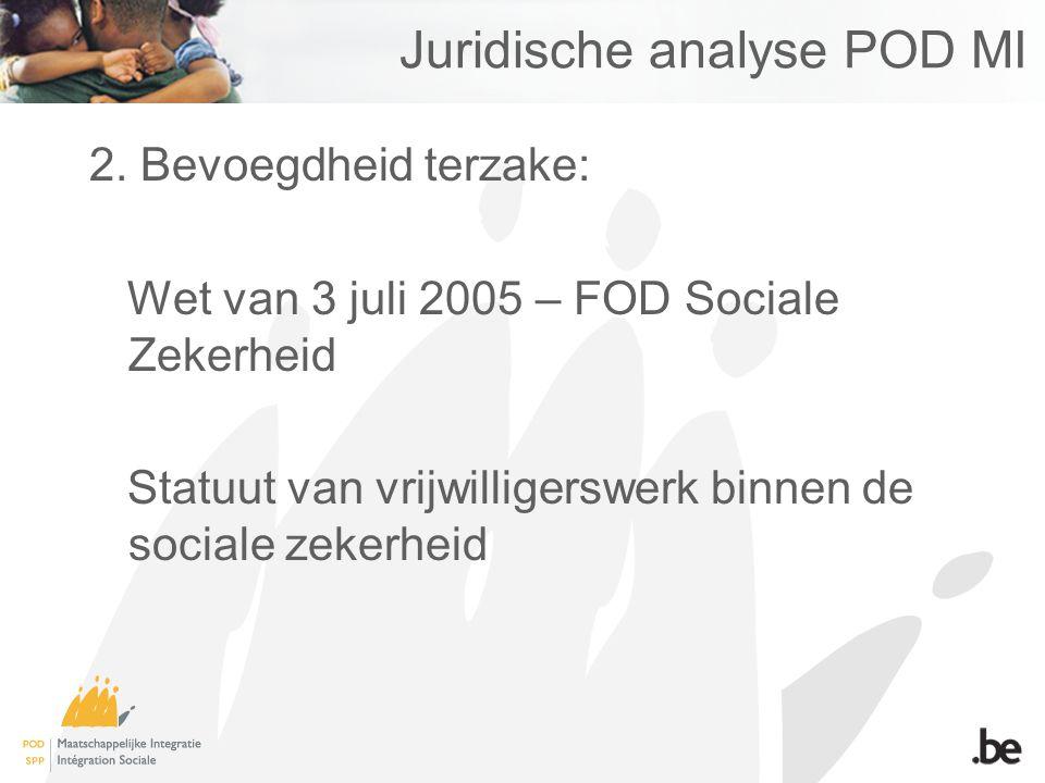 Juridische analyse POD MI 2.