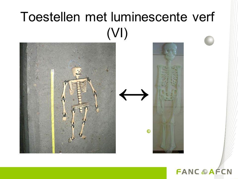 Toestellen met luminescente verf (V) Radium 80 µSv/h Radiumverf