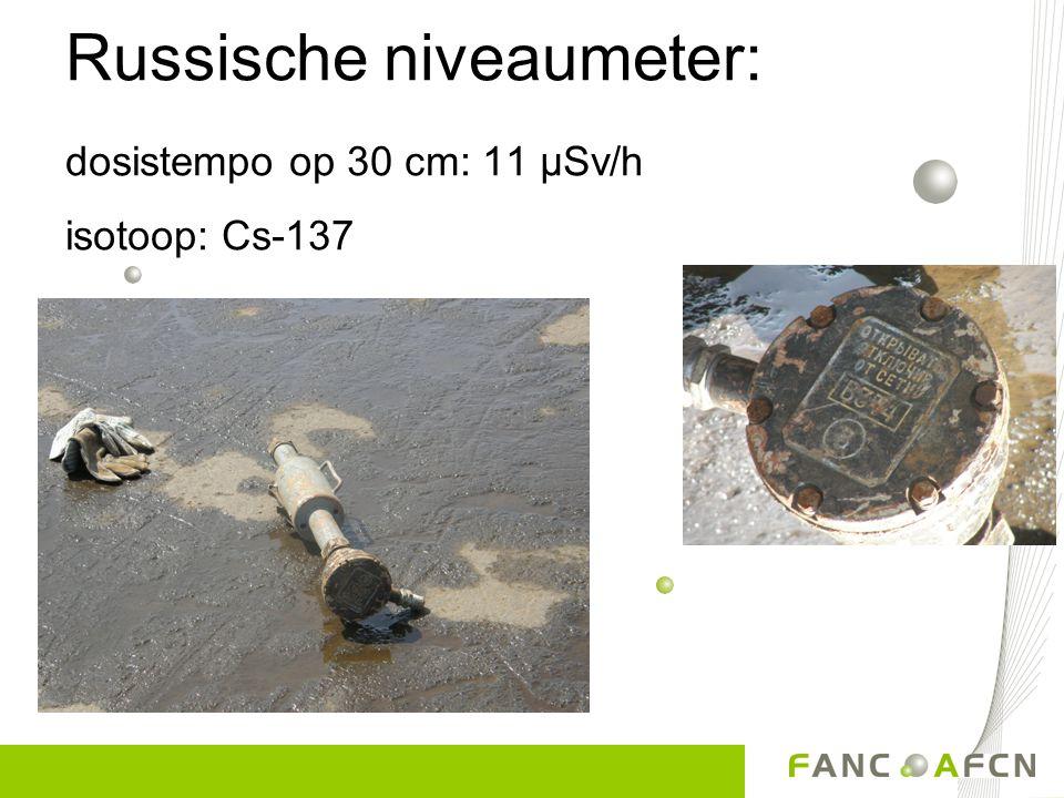 « Leuke » ontdekkingen... Gevonden in de Noordzee: versterker van een oude zeekabel ; vroeger gebruikt voor communicatie isotoop: Ra-226 2,5 µSv/h in