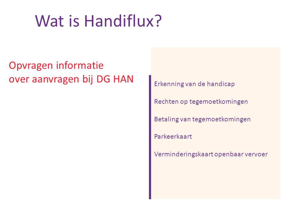 Opvragen informatie over aanvragen bij DG HAN Wat is Handiflux.