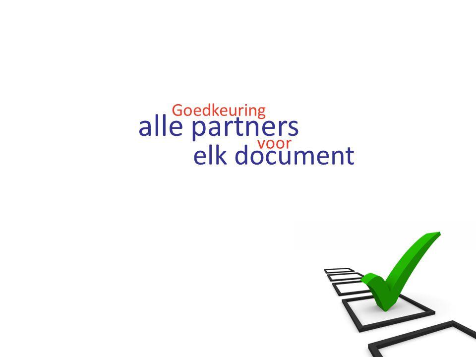 Goedkeuring elk document alle partners voor