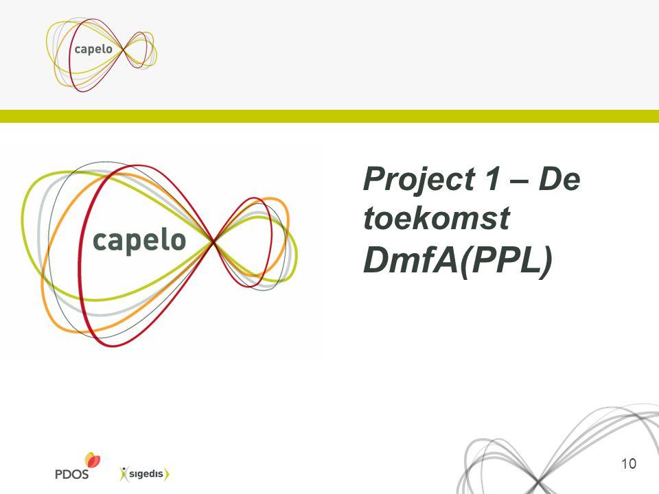 10 Project 1 – De toekomst DmfA(PPL)