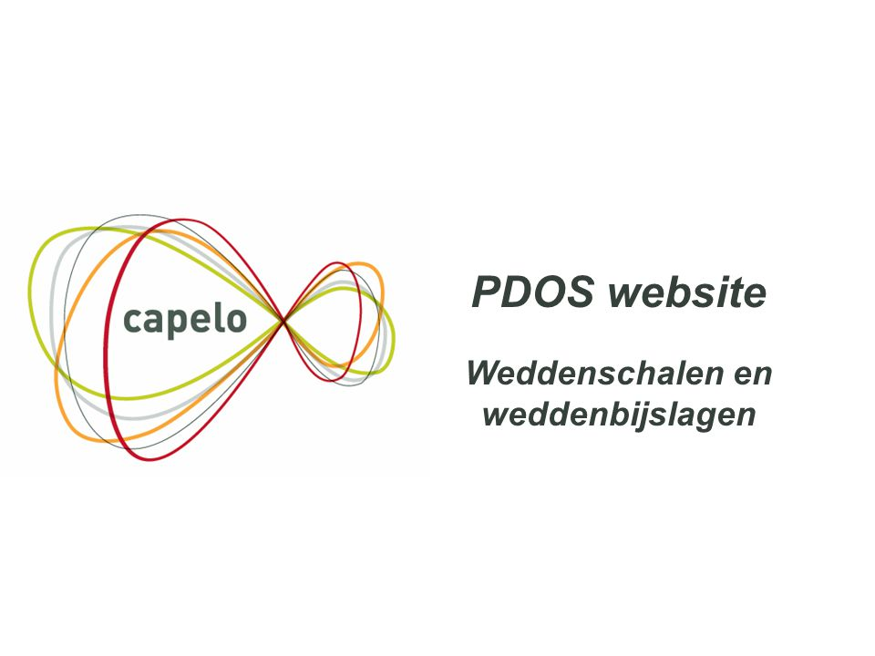 27 PDOS website Weddenschalen en weddenbijslagen