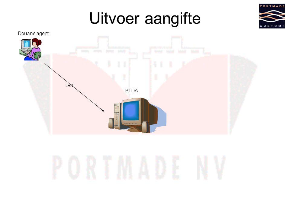Uitvoer aangifte Douane agent PLDA LRN