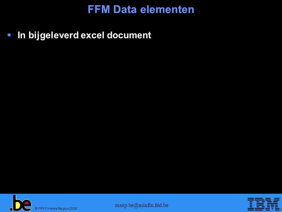 © FPS Finance Belgium 2008 masp.be@minfin.fed.be Office of Exit Bericht idMASP FormatCommentaar IE507FSU RCS Arrival notification.
