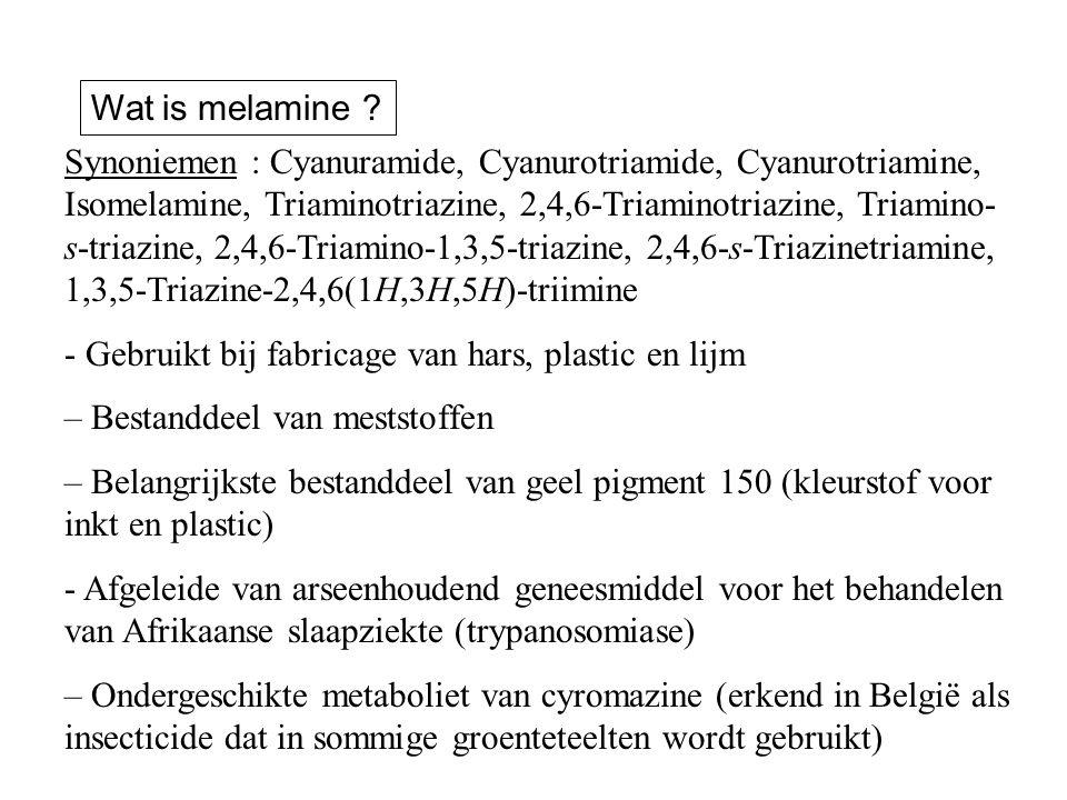 Synoniemen : Cyanuramide, Cyanurotriamide, Cyanurotriamine, Isomelamine, Triaminotriazine, 2,4,6-Triaminotriazine, Triamino- s-triazine, 2,4,6-Triamin