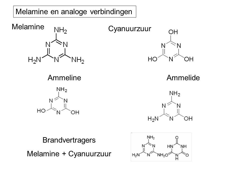 Ammelide Melamine Cyanuurzuur Ammeline Brandvertragers Melamine + Cyanuurzuur Melamine en analoge verbindingen
