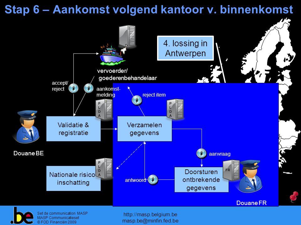 Set de communication MASP MASP Communicatieset © FOD Financiën 2009 http://masp.belgium.be masp.be@minfin.fed.be Stap 6 – Aankomst volgend kantoor v.