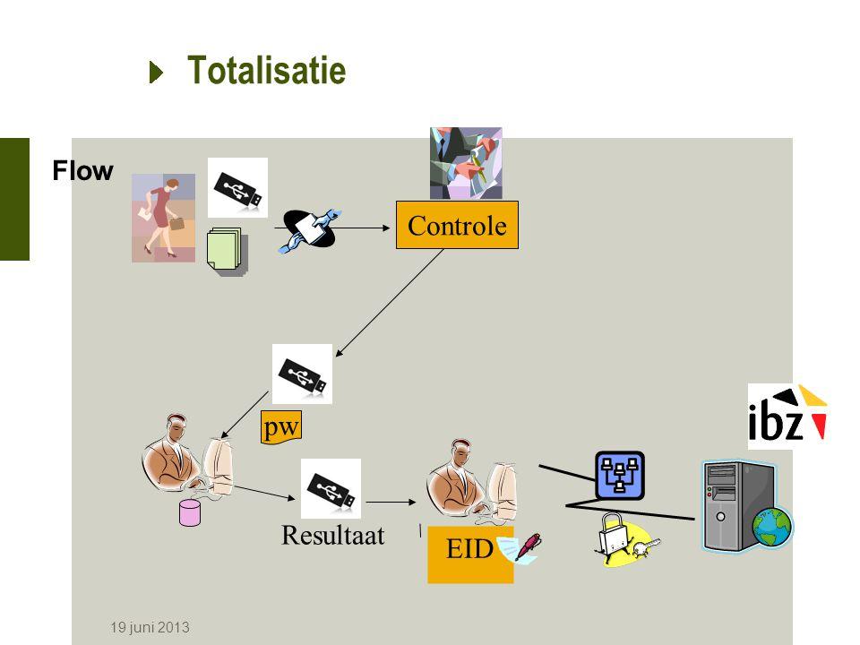 Totalisatie Flow Controle pw Resultaat EID