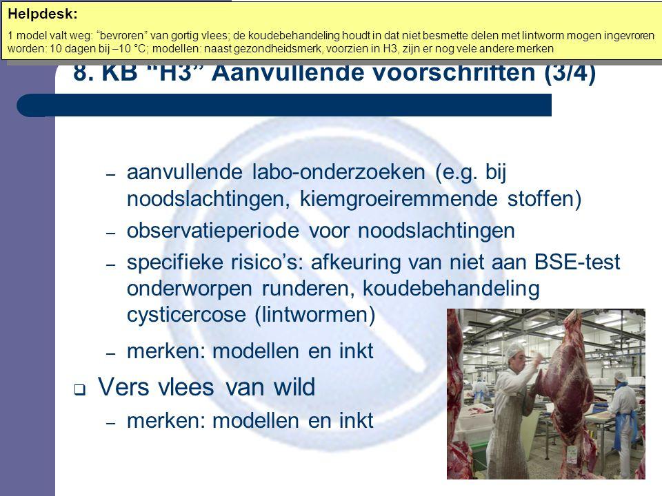 8. KB H3 Aanvullende voorschriften (3/4) – aanvullende labo-onderzoeken (e.g.
