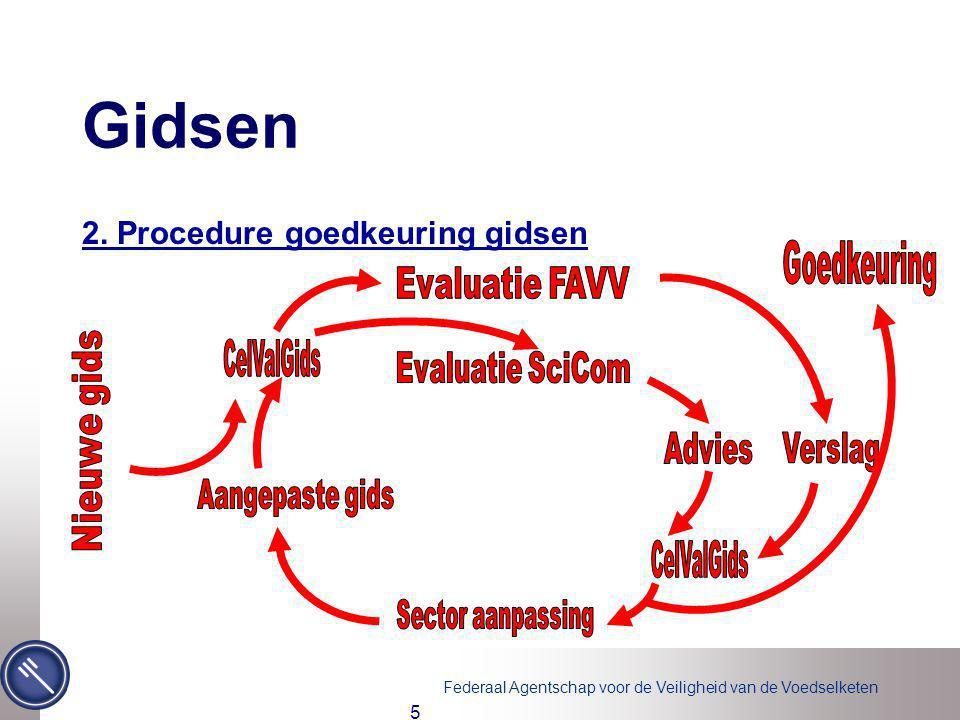Federaal Agentschap voor de Veiligheid van de Voedselketen 5 Gidsen 2. Procedure goedkeuring gidsen