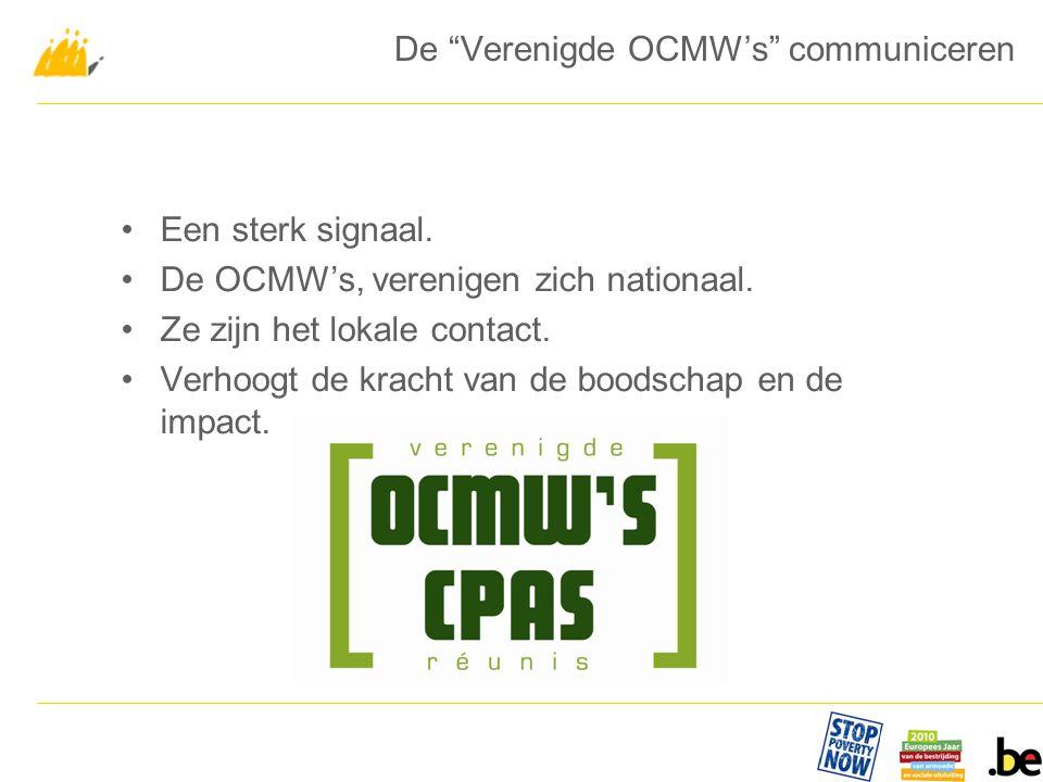 Een sterk signaal. De OCMW's, verenigen zich nationaal.