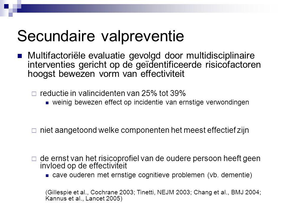 Multifactoriële evaluatie gevolgd door multidisciplinaire interventies gericht op de geïdentificeerde risicofactoren hoogst bewezen vorm van effectivi