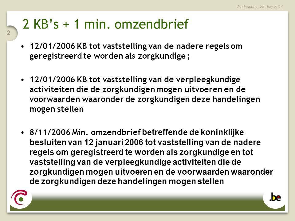 Wednesday, 23 July 2014 23 Praktisch : De gegevens worden door de RIZIV aan de FOD VG tegen 20/12 overgemaakt.