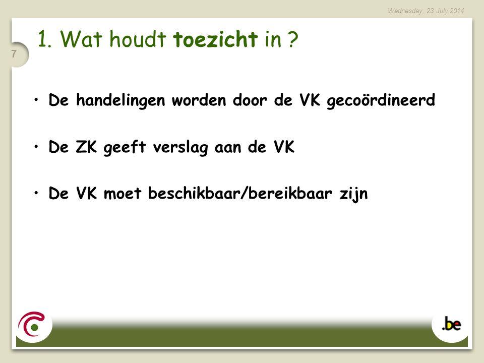 Wednesday, 23 July 2014 28 Voorlopige registratie – individuele aanvraag De ZK heeft een opleiding met vrucht gevolgd De ZK was niet in dienst als verzorgingspersoneel op 13/02/06 De VZInst.