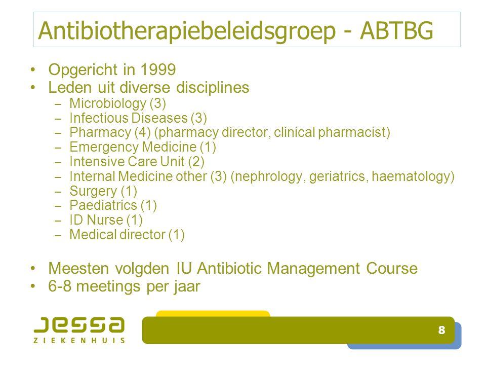 Opvolging Antibioticumprofylaxe Opvolging éénmalige projecten ‒ Real-time registraties (campus SA, VJ) ‒ Ziekenhuisnetwerk Leuven ‒ PWI abdominale heelkunde Opvolging continu ‒ Navigator ‒ Metavision 39