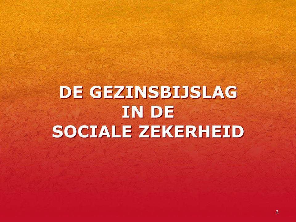 2 DE GEZINSBIJSLAG IN DE SOCIALE ZEKERHEID