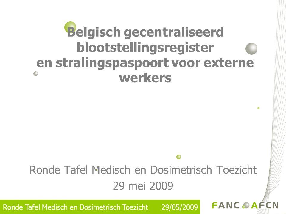 Ronde Tafel Medisch en Dosimetrisch Toezicht 29/05/2009 Dosimetry Service – Operator