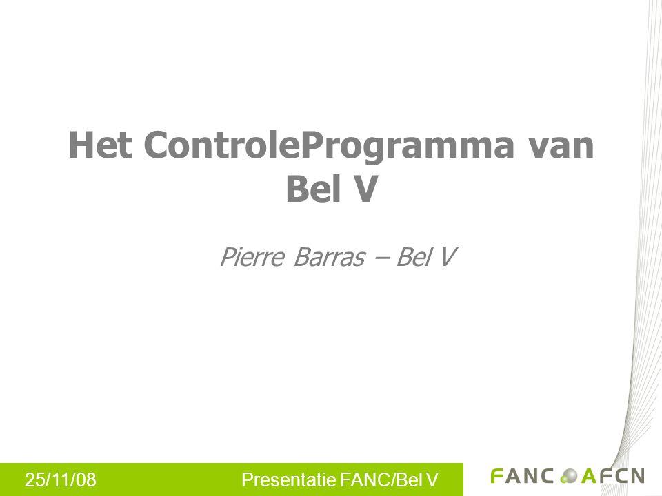 Het ControleProgramma van Bel V Pierre Barras – Bel V
