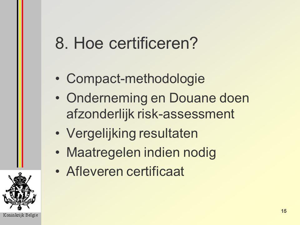 15 8. Hoe certificeren.