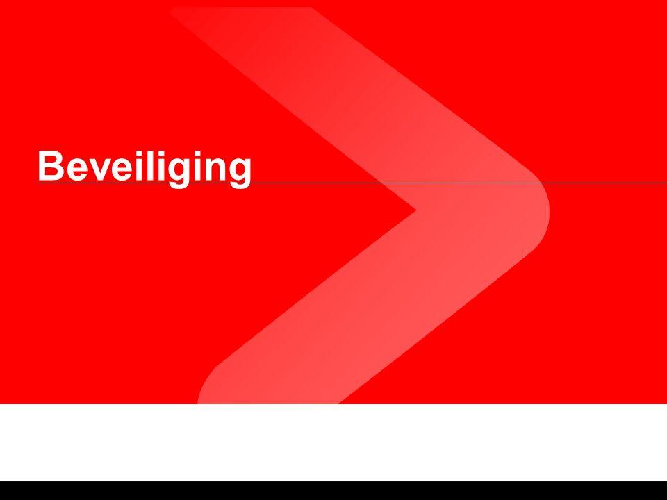Beveiliging. Applicatiebeveiliging Authentification Autorisation Gegevensbeveiliging