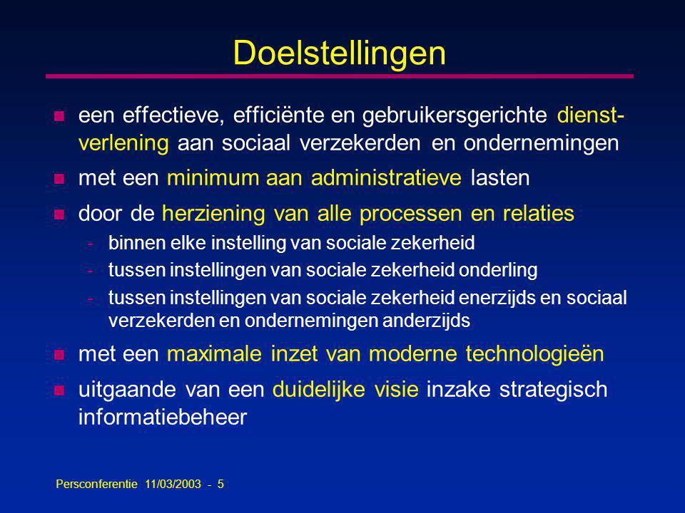Persconferentie 11/03/2003 - 56 Aantal oproepen