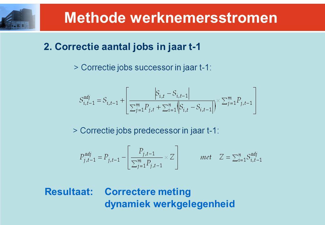 2. Correctie aantal jobs in jaar t-1 > Correctie jobs successor in jaar t-1: > Correctie jobs predecessor in jaar t-1: Resultaat:Correctere meting dyn